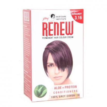 Godrej Renew Permanent Hair Colour Cream Burgundy 3.16 20 Ml
