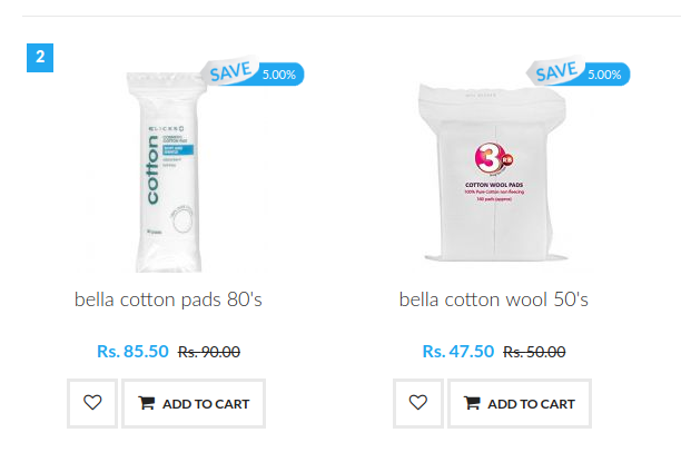 Quick select products